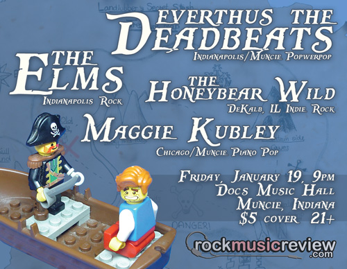 Everthus the Deadbeats + The Elms in MUNCIE!